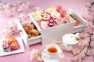 Sakura afternoon tea at The Okura Prestige