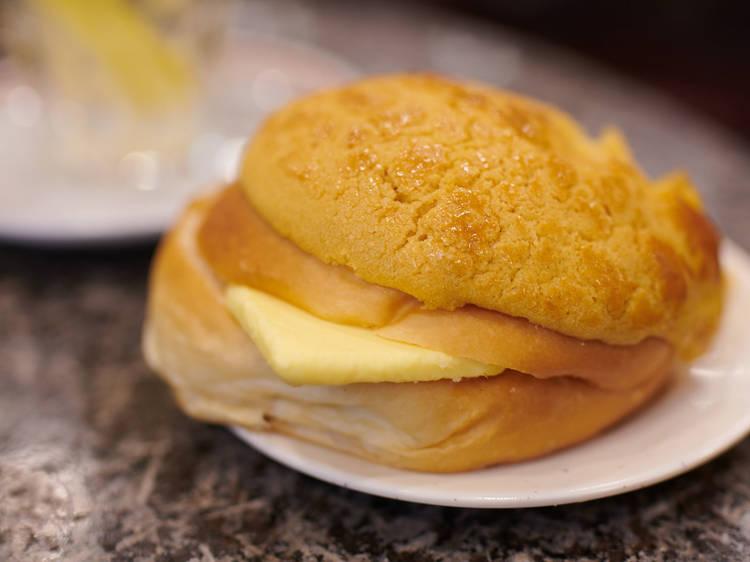 榮華茶餐廳:菠蘿油$14