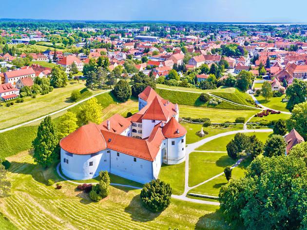 Varaždin city's perfectly landscaped castle