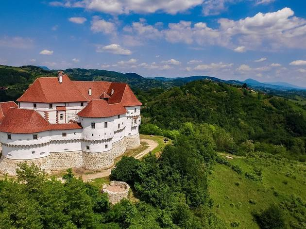 Veliki Tabor Castle among Zagorje region forests