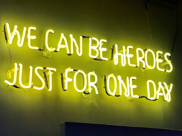 We can be heroes sign