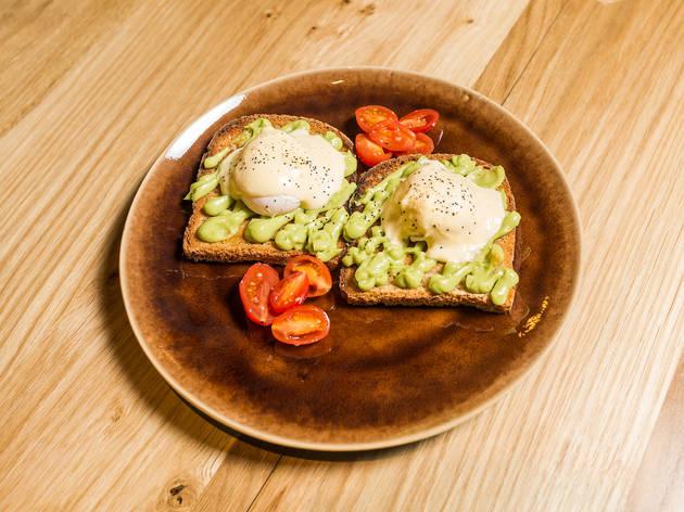 Restaurante, Selllva, Tosta de Abacate com Ovo