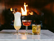 scofflaw, cocktails, logan square, bar, cocktail, fireplace