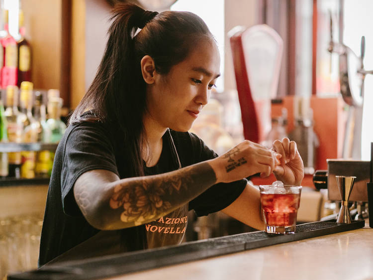 Laxmi Wustmann, bartender at Stazione Novella