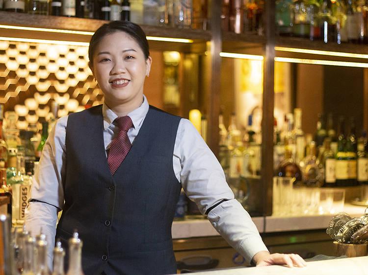Samantha Poon, bartender at 8 1/2 Otto e Mezzo Bombana
