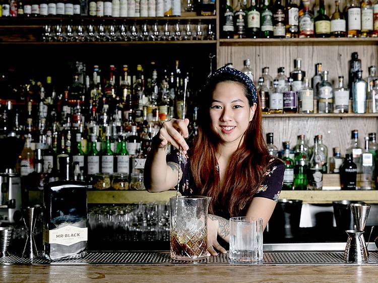 Arlene Wong, bartender at The Pontiac and Asia brand ambassador for Mr. Black