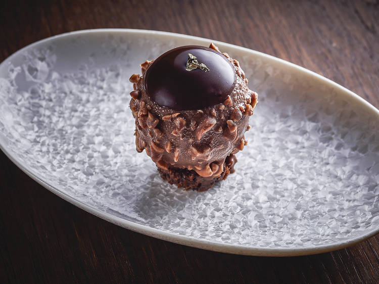 Ferrero Rocher, but make it extra, at Louise