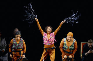 Wai Ching Ho, Jo Yang and Emily Kuroda in ENDLINGS at New York Theatre Workshop