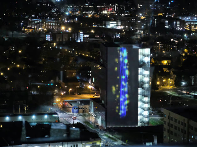 See air pollution with your own eyes at this new outdoor digital projection in Charlotte, N.C.