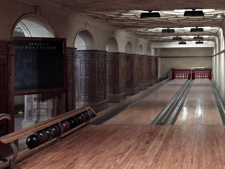 The Frick Collection's bowling alley