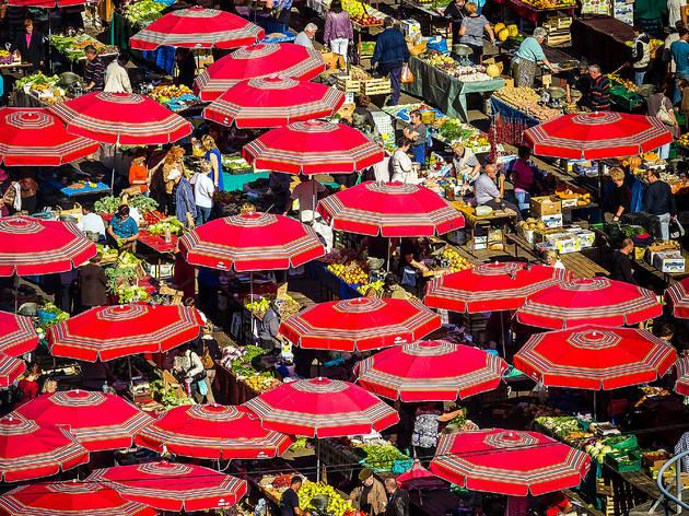 Zagreb's Dolac marketplace, chock-full of springtime delights