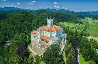 13th-century Trakošćan Castle in the Zagorje region