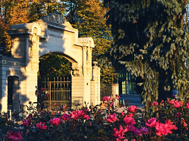 Entrance to Zagreb's Maksimir Park, the first public park in southeastern Europe