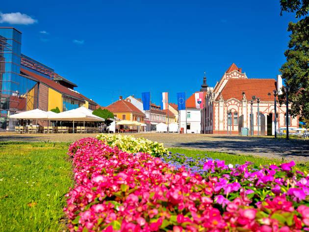 City centre of Čakovec, county seat of the Međimurje region