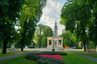 Bjelovar floral city's central Eugen Kvaternik Square