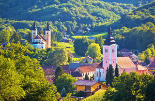 Štrigova village in leafy Međimurje county, bordering with Slovenia