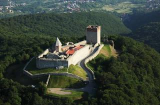Mount Medvednica's Medvedgrad Castle overlooking Zagreb