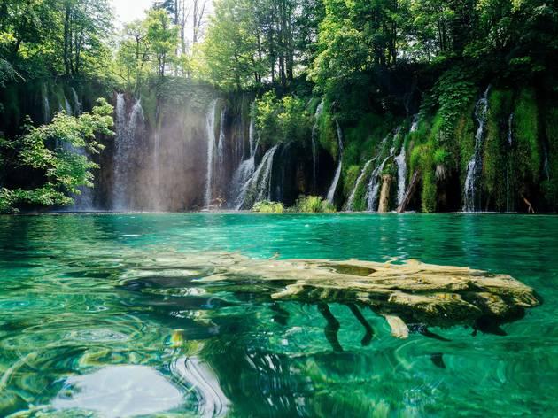 Galovački Buk waterfall in Plitvice Lakes National Park