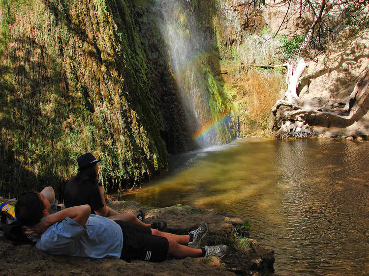 Follow the sound of running water to Escondido Falls