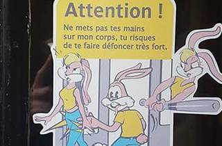 Serge, le lapin du métro, revisité en sticker pour lutter contre le harcèlement sexuel