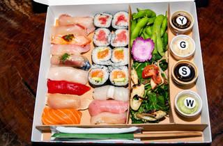 Mrs. Fish bento box sushi DTLA