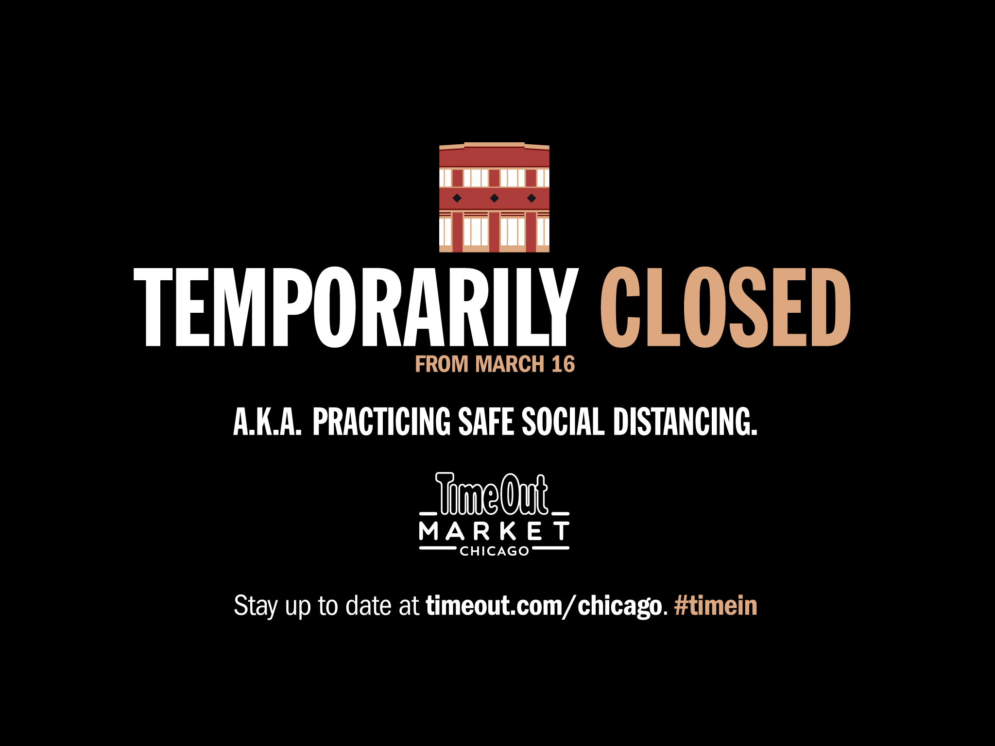 Time Out Market Chicago is closed temporarily beginning March 16