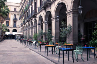 La terrassa de l'Ocaña, a la Plaça Reial