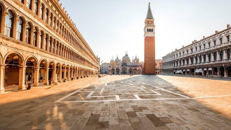 Deserted St. Mark's Square, Venice