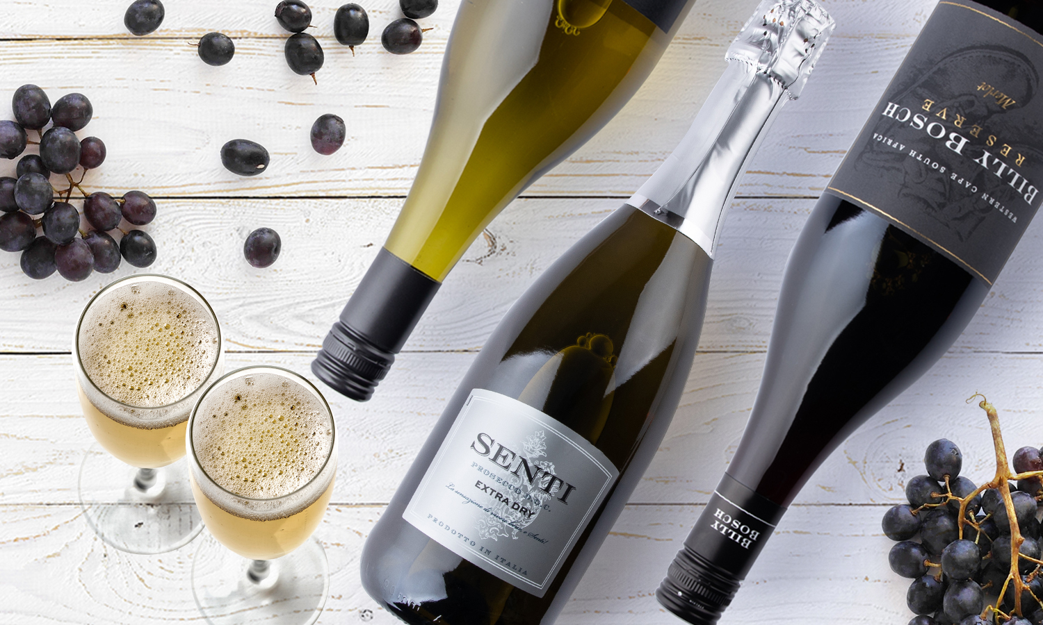 A £60 wine voucher from Virgin Wines plus a bottle of prosecco and free delivery
