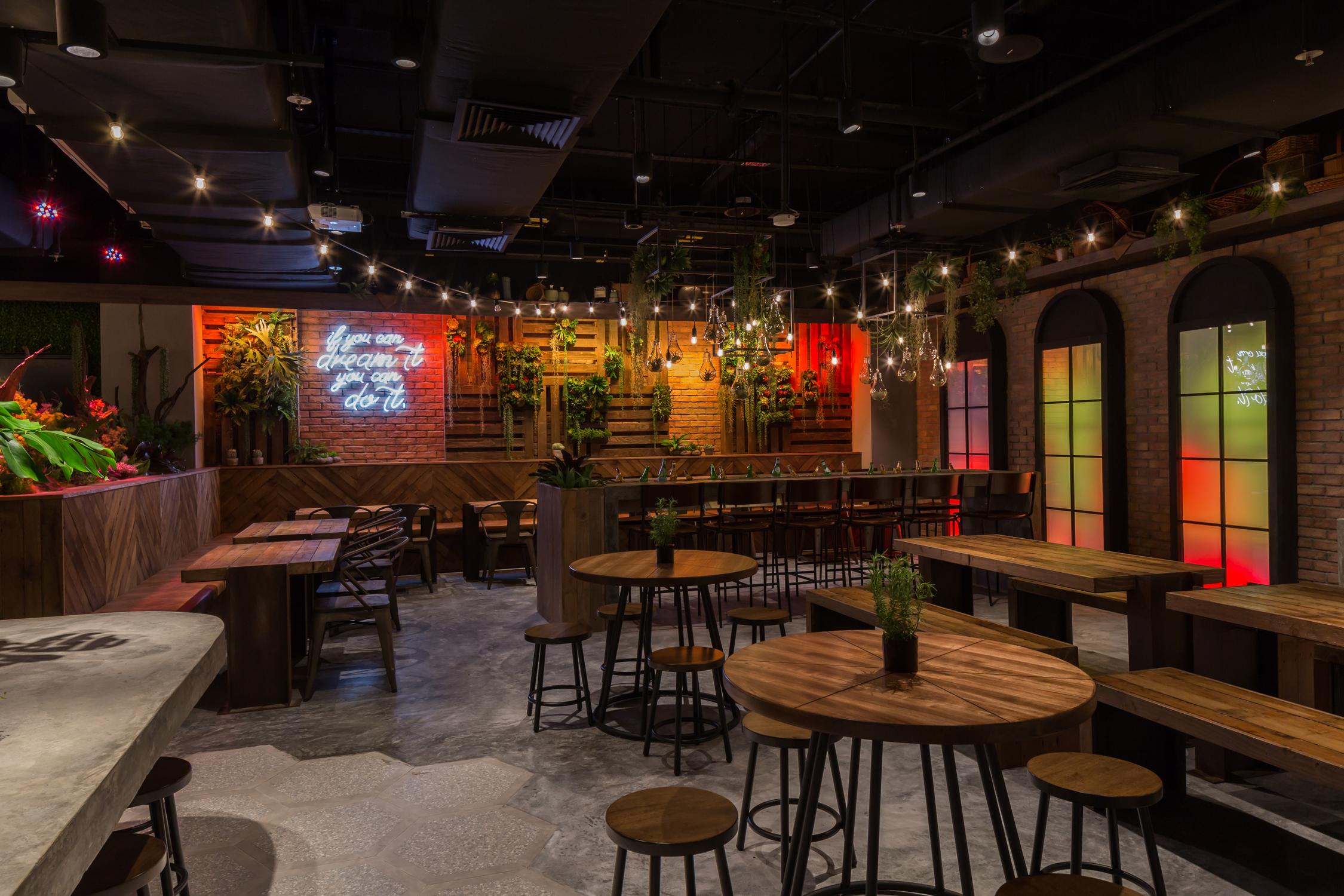 Interior of Picnic Food Park's Beer Garden
