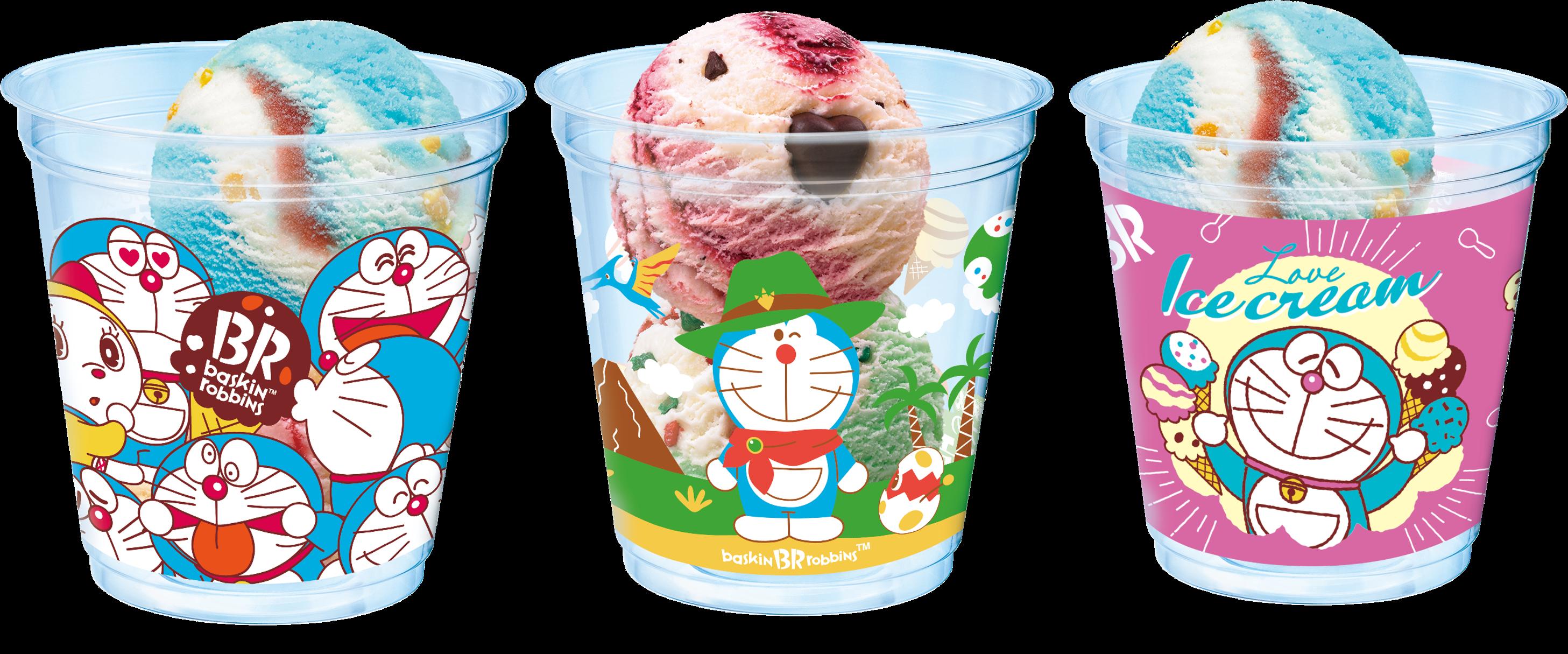Baskin Robbins Doraemon-themed ice cream and dessert