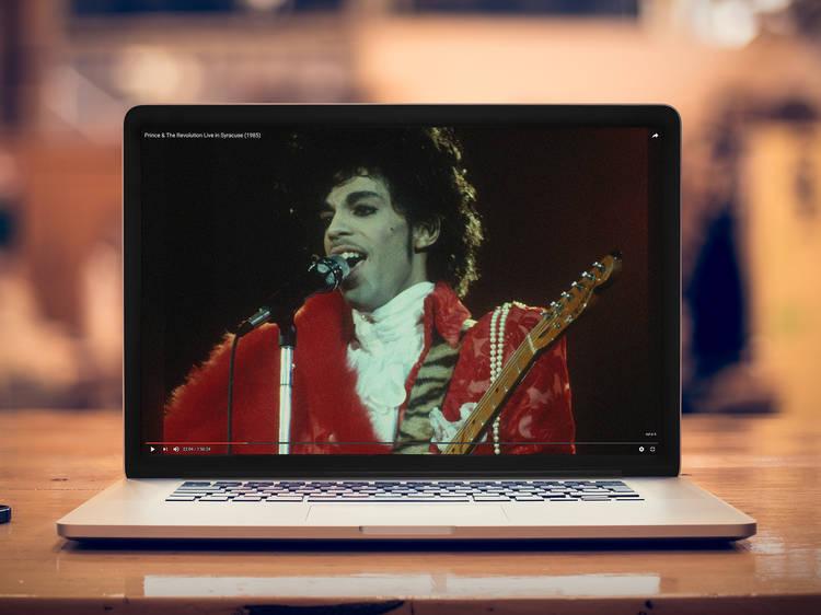 Watch Prince play live
