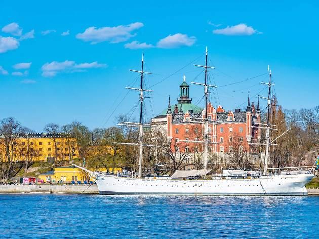 Skeppsholmen and Af Chapman hostel ship, Stockholm