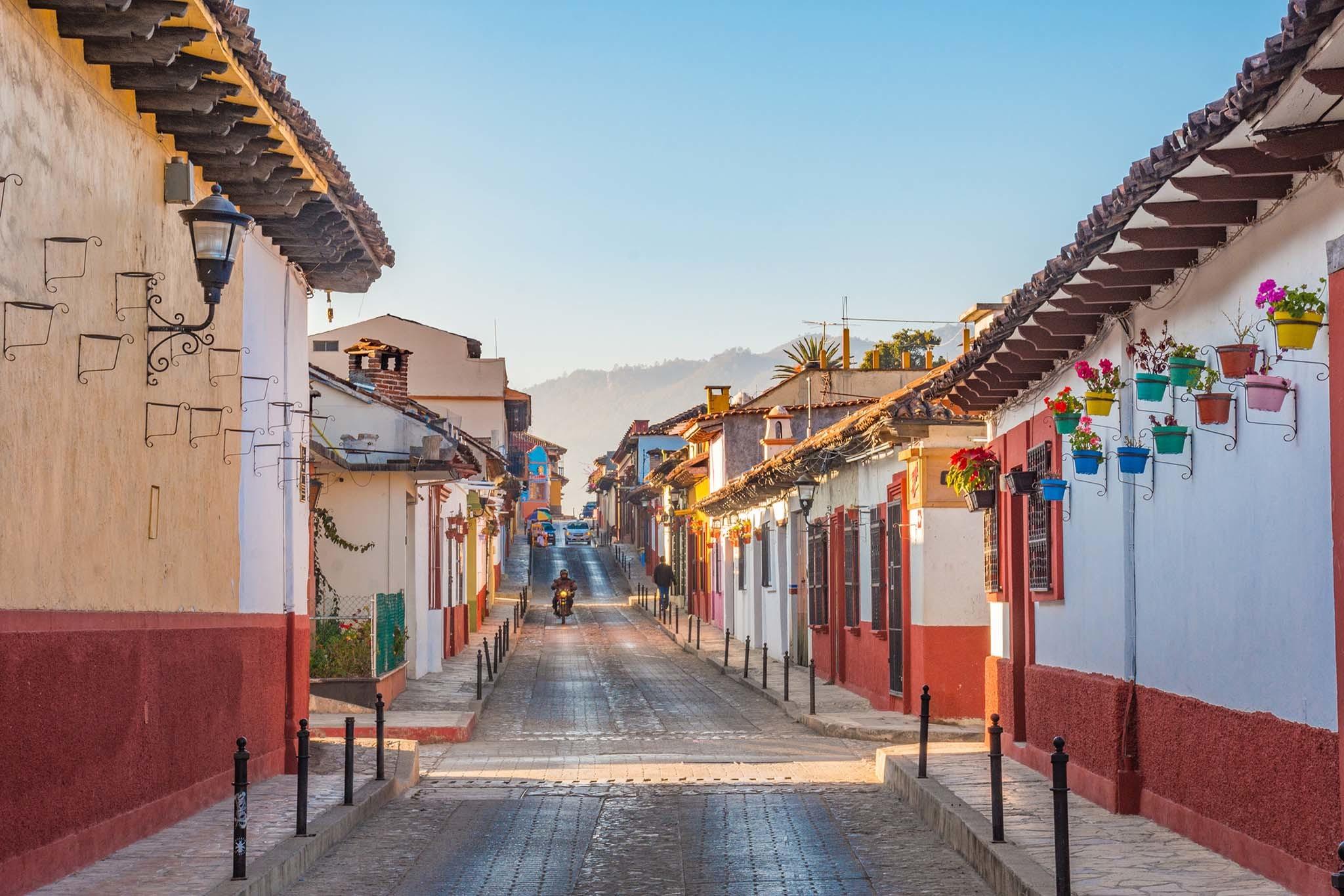 Street in San Cristóbal de las Casas, Chiapas, Mexico