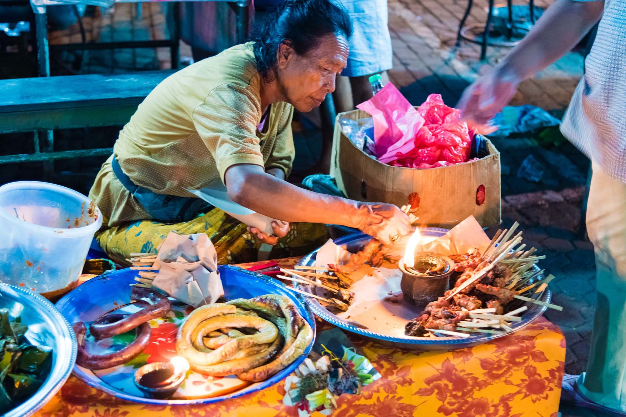 Night market in Bali, Indonesia