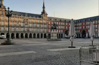 La Plaza Mayor vacía