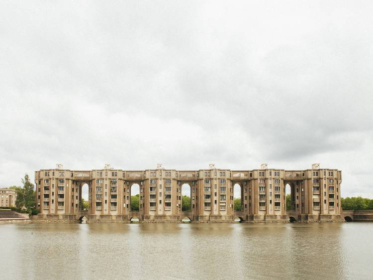 Strangely beautiful brutalist buildings in Paris's suburbs