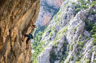 Rock climb one of Croatia's many mountains