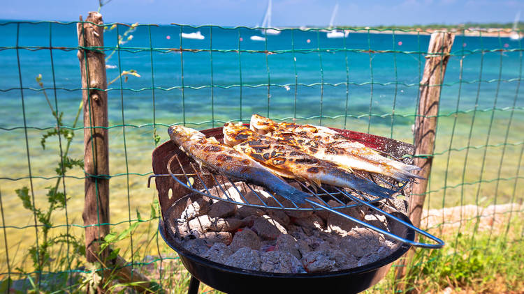 Fire up the grill, seaside