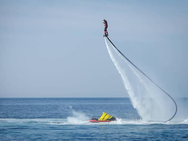 Lift off on a hydroflight