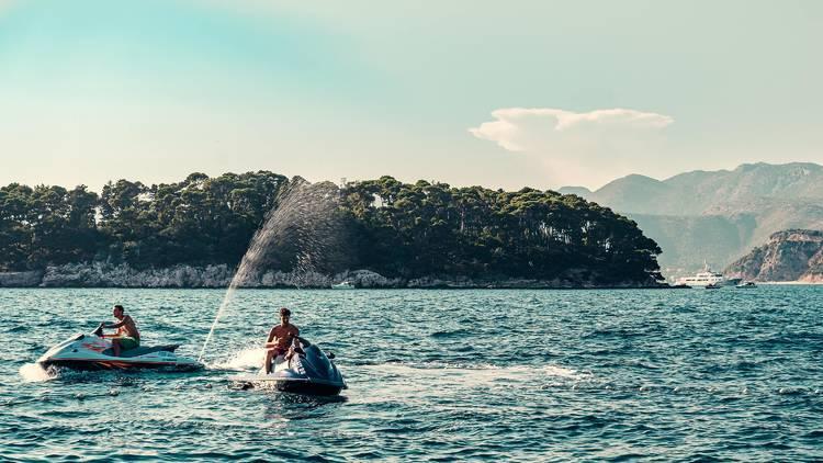 Ride a jet ski