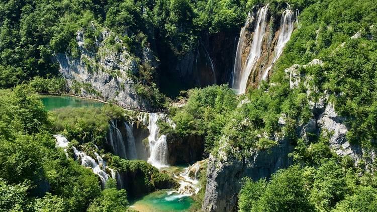 Hike through waterfalls