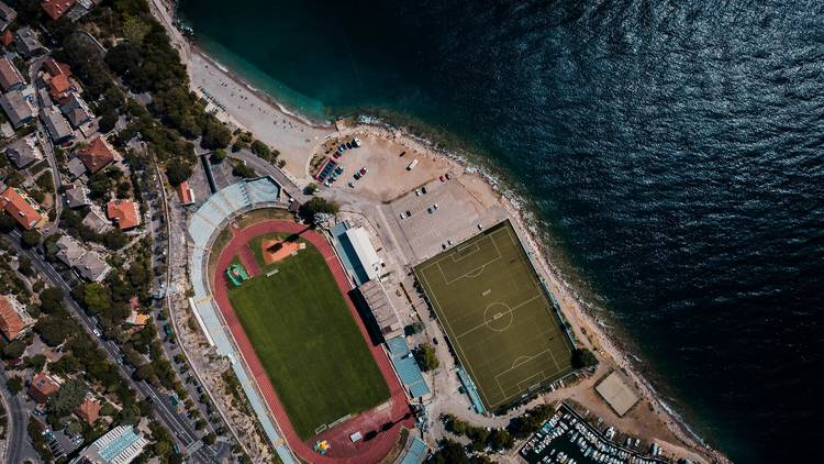 Hit the football field, then the sea - or vice versa