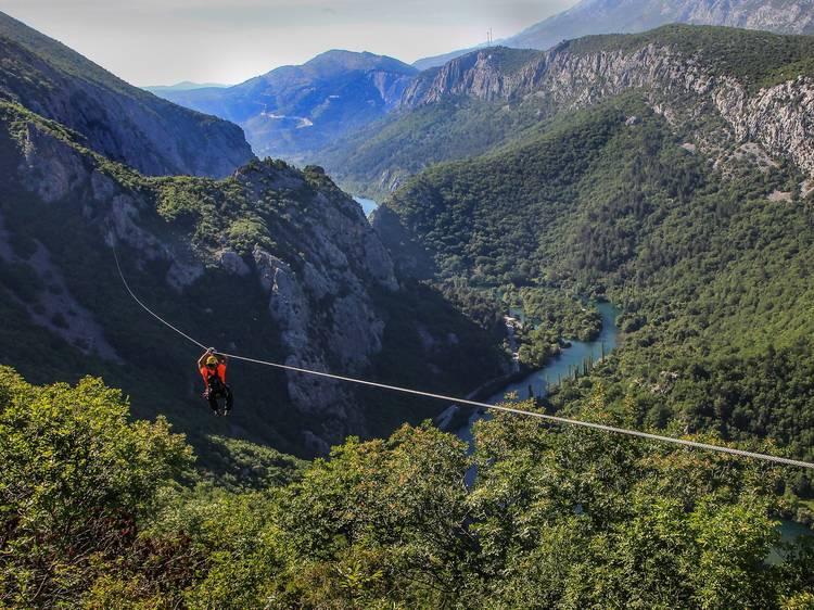 Get an adrenaline rush on the Cetina