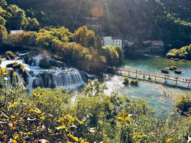 Take in waterfalls