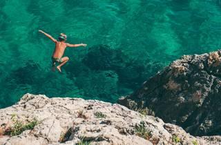 Cliff dive into the Adriatic