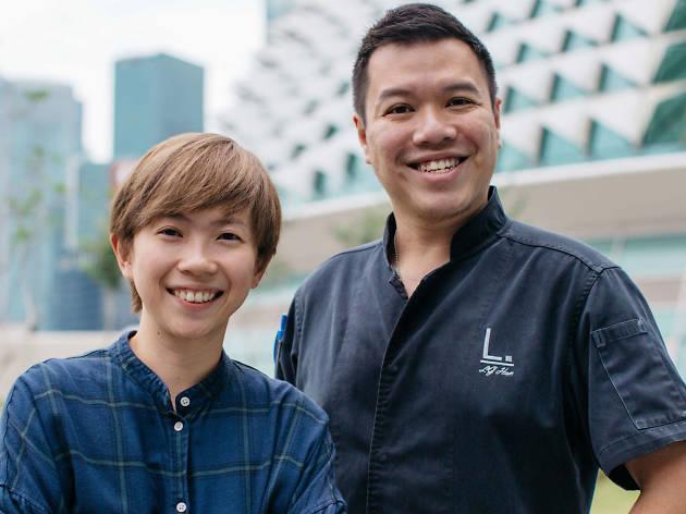 Chef Han Li Guang and Diya Tan