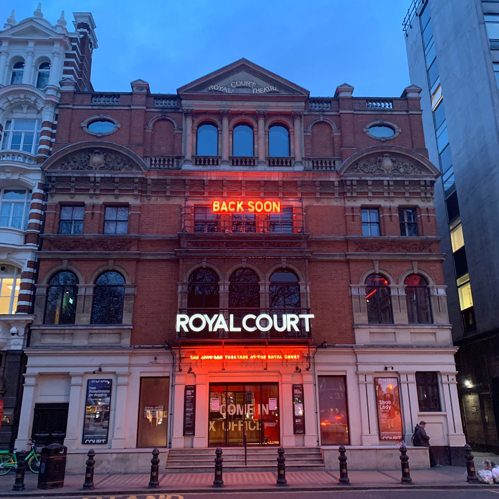 London's theatres have closed