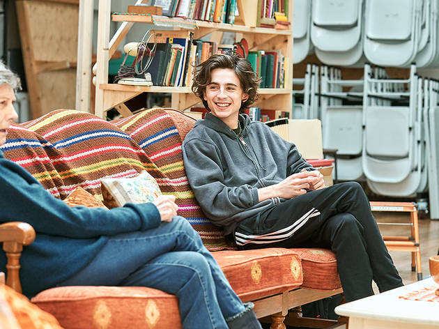 Eileen Atkins and Timothée Chalamet in rehearsals for 4000 Miles, Old Vic