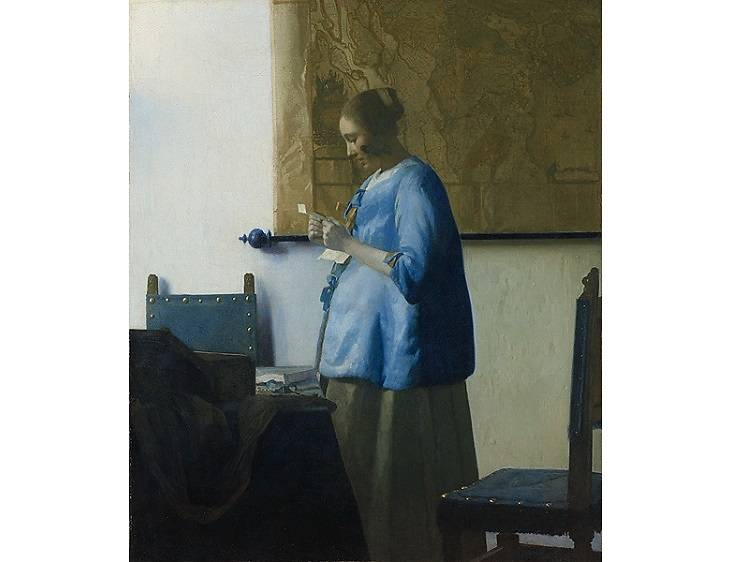 Woman in Blue Reading a Letter, Johannes Vermeer (1663-64)